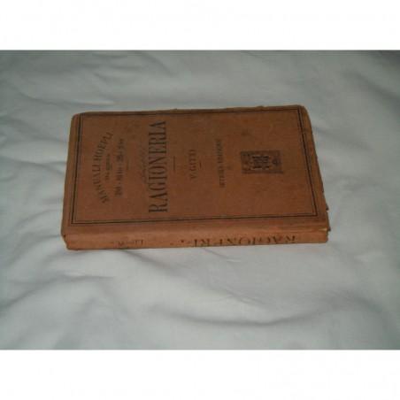 Manuale Hoepli serie scientifica Gitti ragioneria 1921