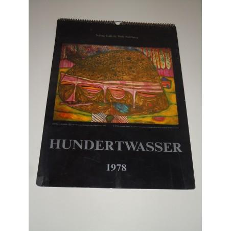 Calendario 1978 del pittore Hundertwasser Verlag galleria Welz GmbH