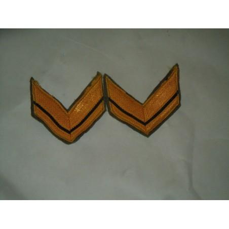 Coppia di gradi militari baffi in lana sergente esercito
