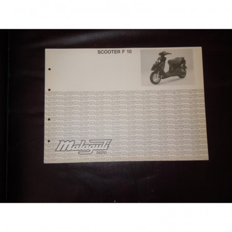 Manuale scheda tecnica catalogo dei ricambi malaguti scooter F10