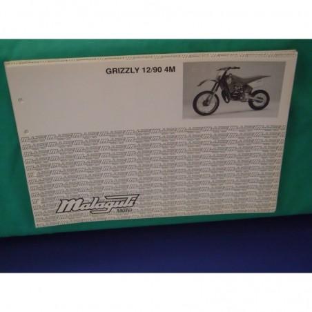 Manuale scheda tecnica catalogo dei ricambi malaguti grizzly 12/90 4M
