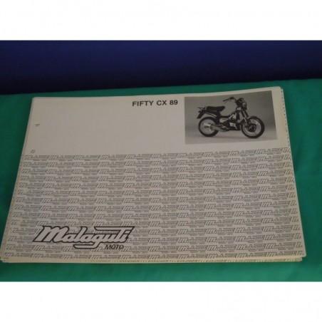 Manuale scheda tecnica catalogo dei ricambi malaguti fifty CX 89