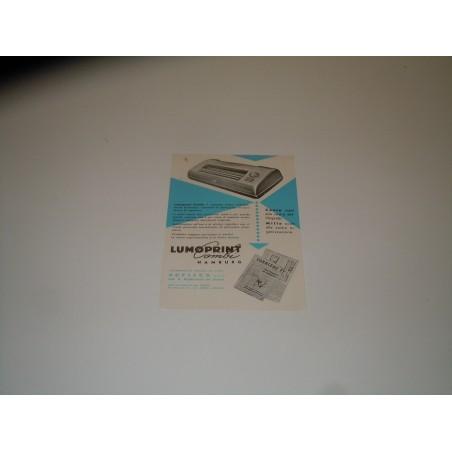 Pubblicità advertising Lumoprint combi macchine da calcolo archivio