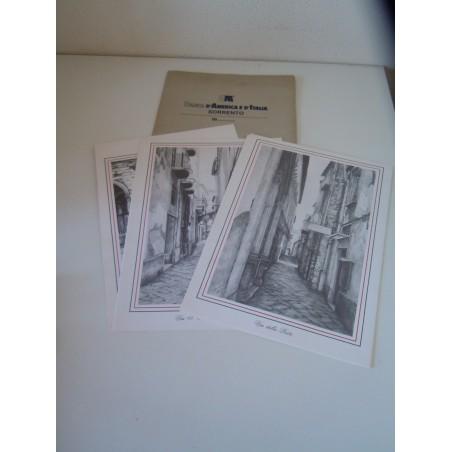 Sorrento attraverso i vicoli litografie banca d America e d Italia