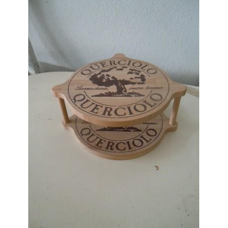 Tagliere espositore pubblicitario Formaggio querciolo in legno