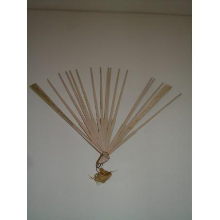 Vecchio telaio di ventaglio in osso cm 34.5