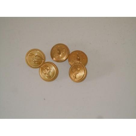 5 Bottoni aeronautica militare in metallo diametro cm 2 esercito