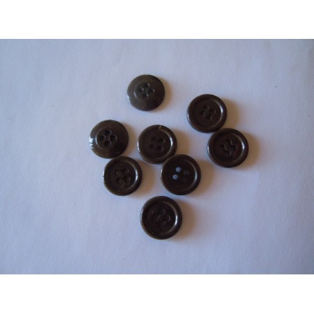 Bottoni militari diametro 14 mm color cachi 1000 pezzi esercito