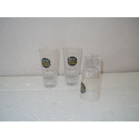 Bicchiere vetro pubblicitario Amaro Fabbri gran bar liquore