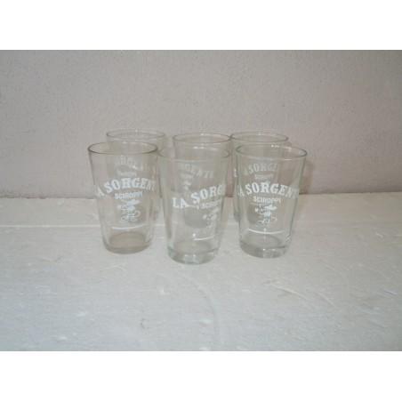 6 Bicchieri vetro pubblicitario La Sorgente sciroppi
