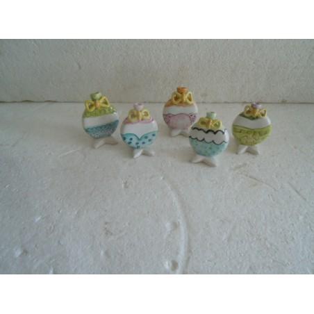 5 Segnaposti in ceramica artigianali