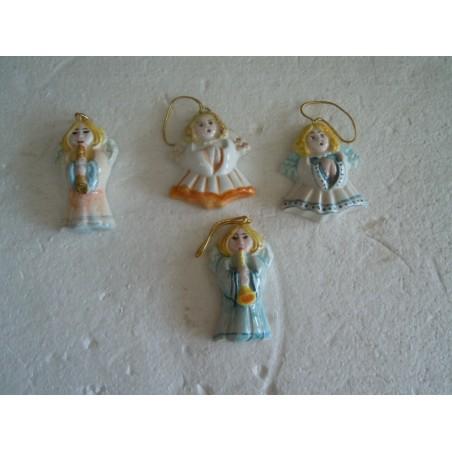 4 Angeli angioletti in ceramica artigianali natalizio