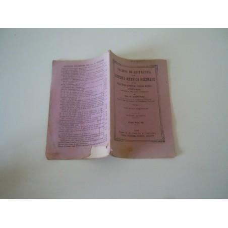 Nozioni di aritmetica sistema metrico decimale Borgogno 1882