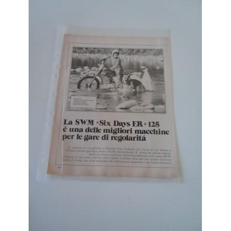 Pubblicità advertising SWM six days er 125  moto motocicletta