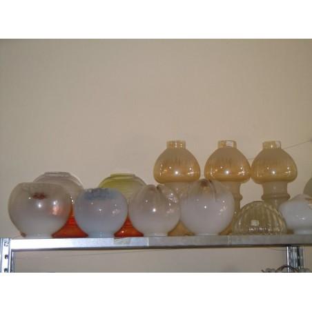 Ricambio lampadari paralumi Boccia in vetro grande assortimento