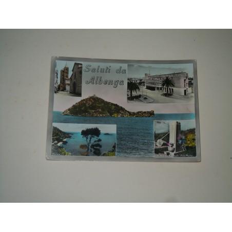 Cartolina Albenga Savona a vedutine viaggiata