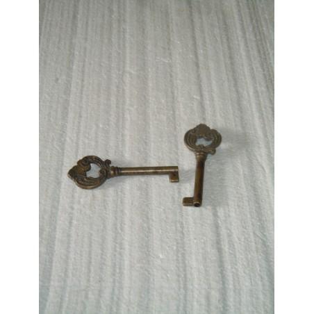 Chiave per serrature ottone antichizzato per cassetti mobili