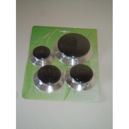 Serie bruciatori e piattelli 390CU008 per cucina smeg TN 2 fori