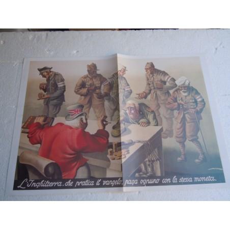 Manifesto L'Inghilterra che pratica il vangelo propaganda copia riproduzione