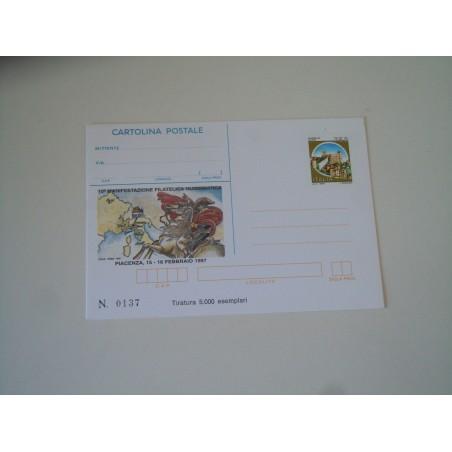 Cartolina postale Piacenza 1997 manifestazione filatelica