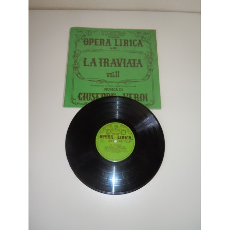 Disco Lp 78' la traviata Verdi opera lirica vol II melodramma edizioni paoline
