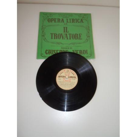 Disco Lp 78' il trovatore Verdi opera lirica n 6 edizioni paoline