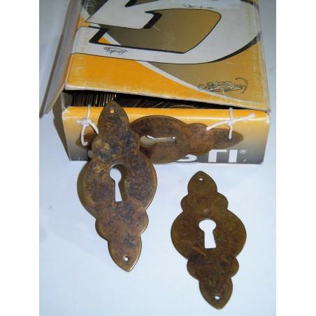 Borchia per serrature in ottone antichizzata mobili cassetti