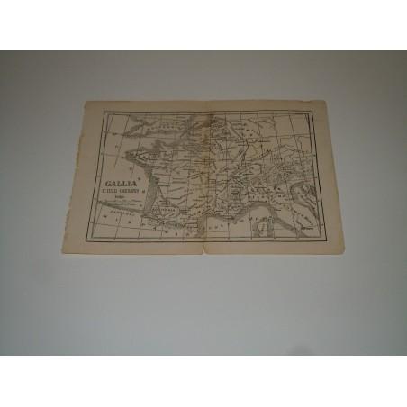 Cartina Gallia ai tempi di Giulio Cesare