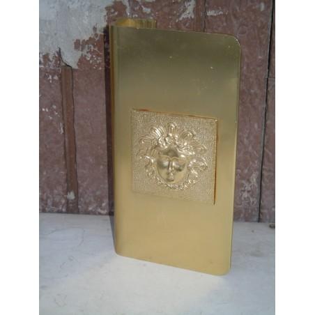 Maniglione Maniglia vintage per porte portoncini in alluminio dorato