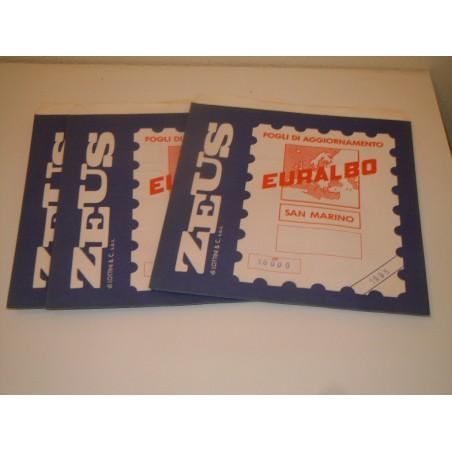 Fogli Euralbo album francobolli San Marino 1995