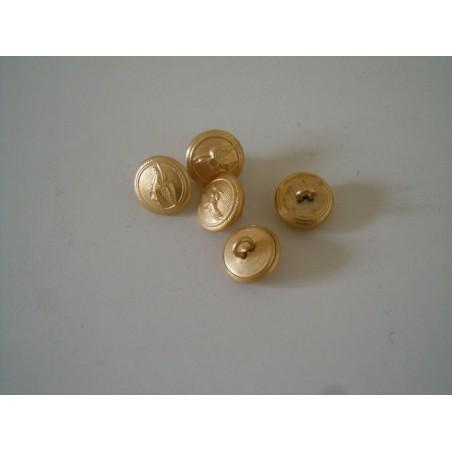 5 Bottoni aeronautica militare in metallo diametro cm 1.5 esercito