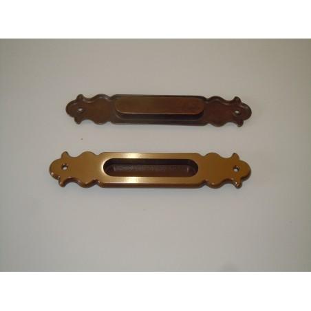 Maniglia da incasso in ottone Valli & Colombo per mobili cassetti porte