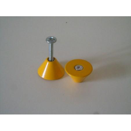 Pomo pomello maniglia Forges in ottone gialla per mobili cassetti