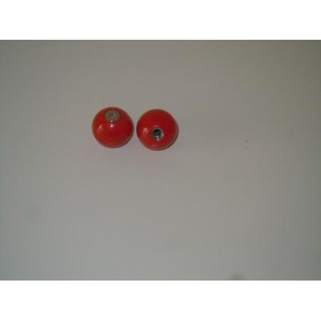Pomo maniglia forges piccola sfera in ottone vericiato rosso cassetti mobili