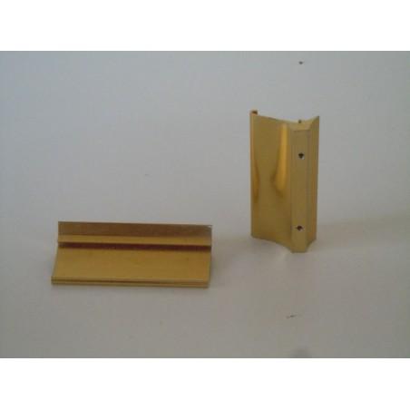 Pomo maniglia in alluminio dorato per mobili cassetti vintage modernariato