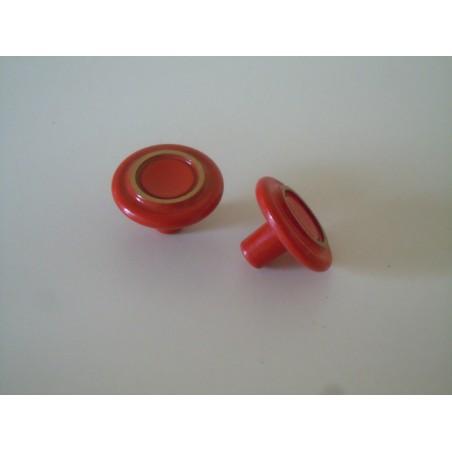 Pomo maniglia in ottone rosso con filo oro per mobili cassetti vintage
