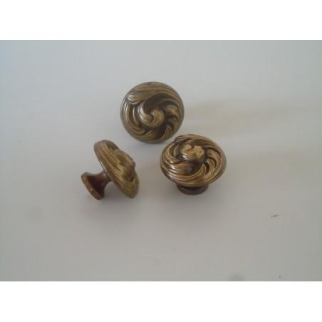 Pomo maniglia in ottone bronzato in stile per mobili cassetti vintage