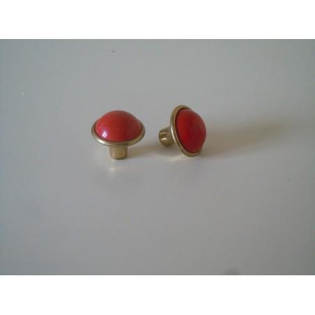 Pomo maniglia in ottone dorato vericiato rosso cassetti mobili