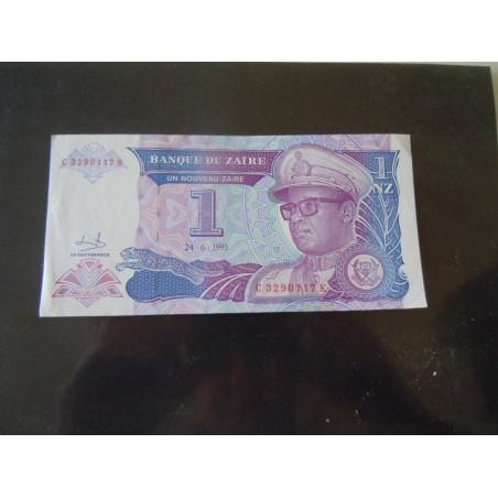 Banconota Zaire 1 nouveau 1993 cartamoneta estera