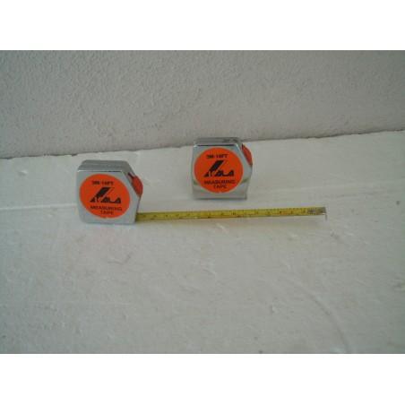 Flessometro metro a nastro riavvolgibile in acciaio mt 3 con blocco