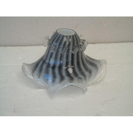 Ricambio lampadari boccia vetro Murano nera striata