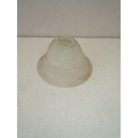 Ricambio lampadari boccia vetro a campanella affetto sabbiato