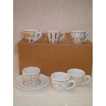 Servizio tazze caffè 6 pezzi SIC ceramiche vintage