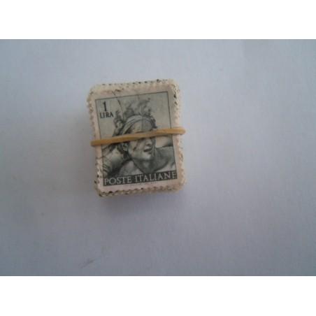 Francobolli Italia mazzetta Michelangiolesca 1 lira 103 pezzi