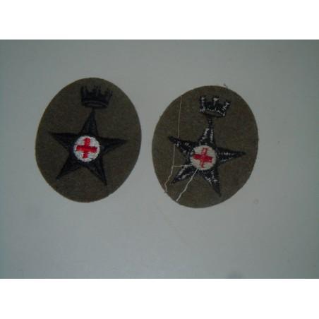 Scudetto fregio Sanità per berretto cappello panno lana esercito militaria