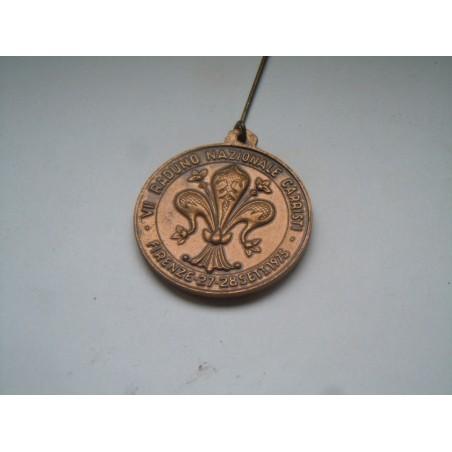 Medaglia spilla ANCI VII raduno naz carristi Firenze 1975 ferrea mole
