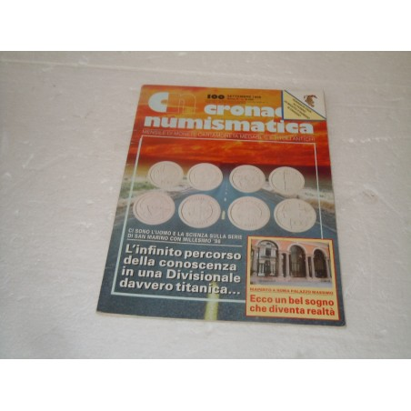 Rivista Cronaca numismatica n° 100 settembre 1998