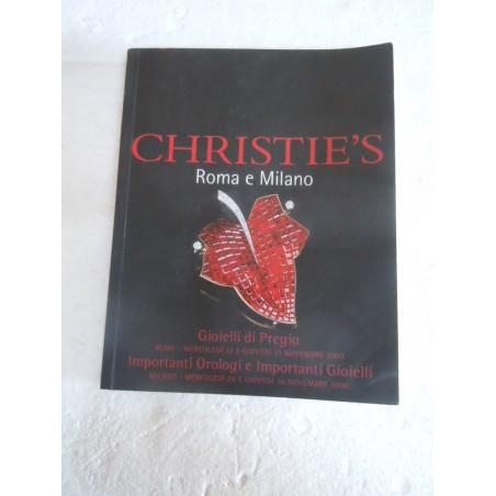 Catalogo d'asta Christie's Roma Milano Gioielli di pregio orologi  2000