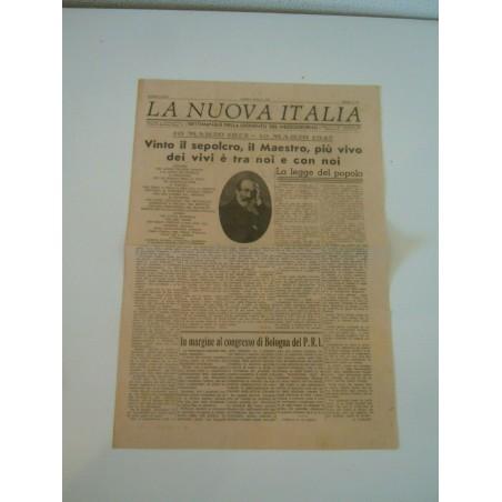 Giornale settimanale la nuova Italia gioventù del mezzo Napoli 1947ggiorno