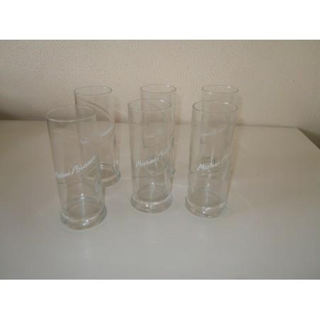 Bicchieri pubblicitario Martini Bianco 6 pezzi